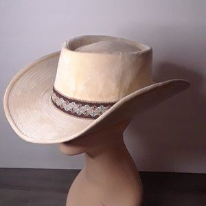 "Velveteen Vintage YA Cowboy Hat - size Small 22"""
